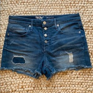 Like new distressed denim shorts